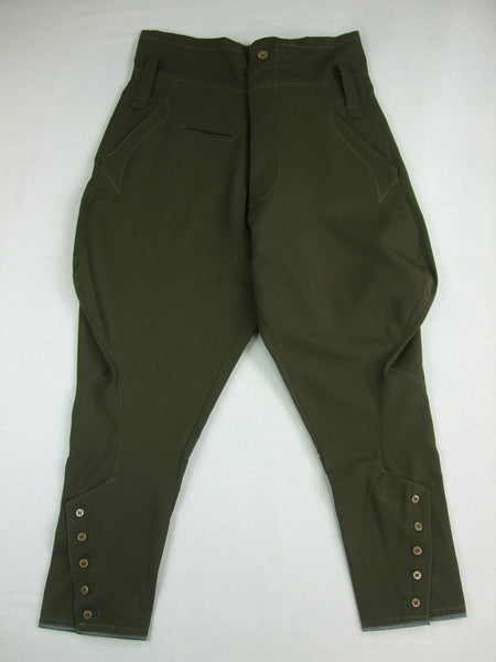 WWII Japanese Army IJA Officer Breeches Gabardine Green