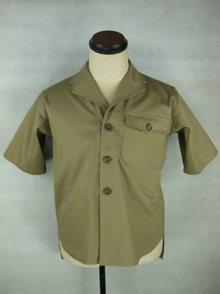 WWII Japanese Navy IJN Tropics Half Shirt Heavy Cotton