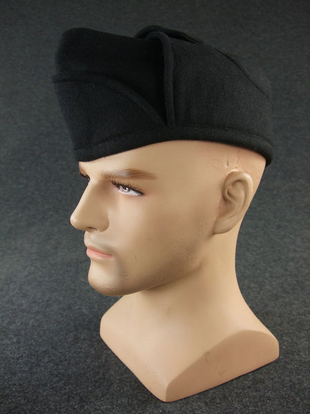 WW2 Italy Italian NFP Black Wool Side Cap