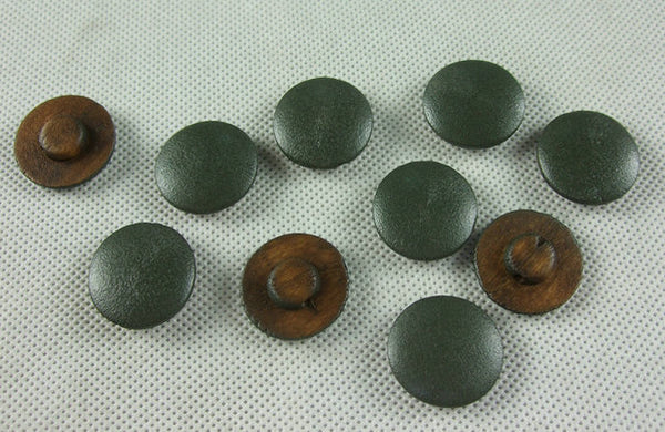 WW2 Italian Mushroom Wooden Buttons Painted 22 mm X10