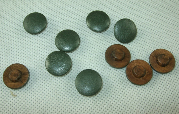 WW2 Italian Mushroom Wooden Buttons Painted 15 mm X10