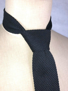 WW2 Italy Italian Infantry Troops Black Knitted Tie