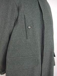 WW2 Italy Italian M37 M40 Grey Green Wool Great Coat Cappotto
