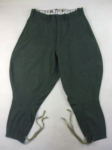 WW2 Italian Grey Green Wool Breeches For Officers Mounted Troops