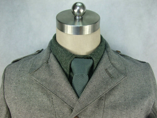 WW2 Italy Italian Infantry Troops Grey Green Knitted Tie