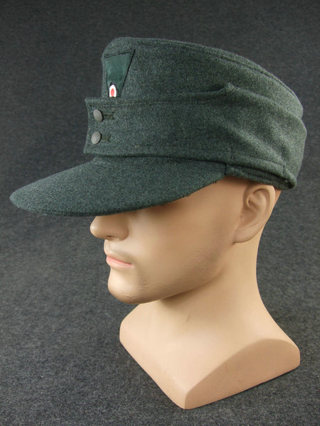WWII German M43 WH Field Cap Grey Green Wool