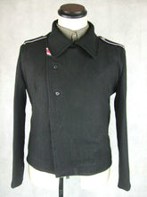 Load image into Gallery viewer, WWII German Elite Black Wool Panzer Wrap Tunic Jacket