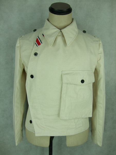 WWII German Heer Panzer HBT Off-White Wrapper Jacket WH