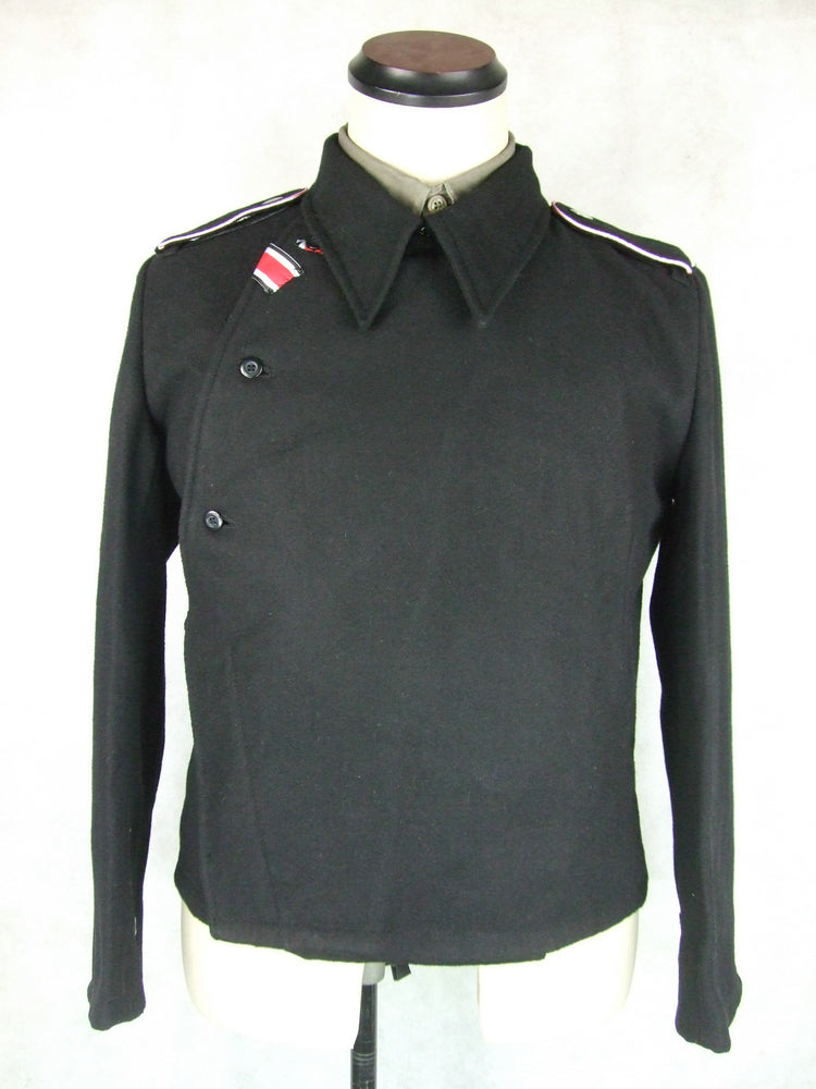 WWII German WH Heer M34 Black Wool Panzer Tunic Jacket