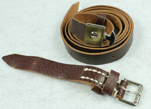 WW1 German Leather Carry Strap For Binoculars Case Dark Brown