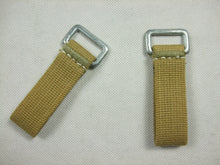 Load image into Gallery viewer, WW2 German Soldier DAK EM Y-Straps Webbing D-ring X2