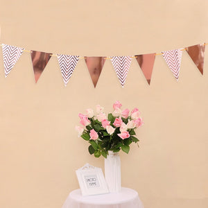 4M Paper Garland Star Shape String Banners Baby Shower Girls Bunting Hanging Paper Happy Birthday Wedding Party Home Decoration