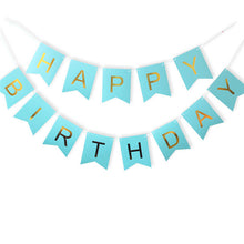 Load image into Gallery viewer, Paper Bunting Garland Banners Flags Happy Birthday Banner Boys Girl Baby Shower Decoration Wedding Birthday Party Supplies Decor