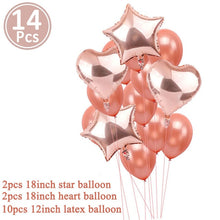 Load image into Gallery viewer, First Happy Birthday Blue Balloon Banner My 1st 1 One Year Party Decorations Kids Baby Boy Girl Adult Garland Supplies Rose Gold