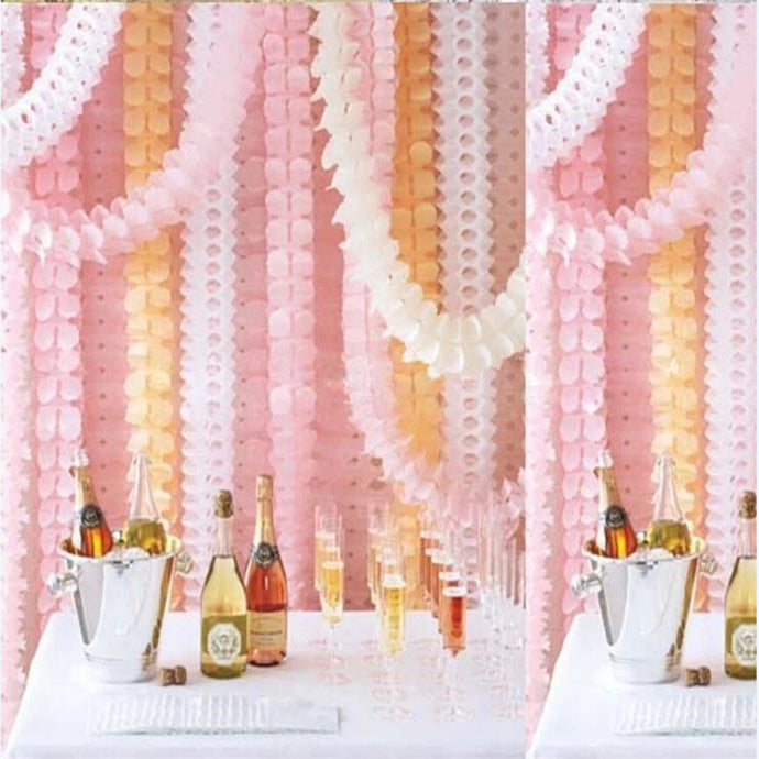 Beautiful 3.6M Four Leaf Clover Paper Garlands For Wedding Birthday Party Home Decoration