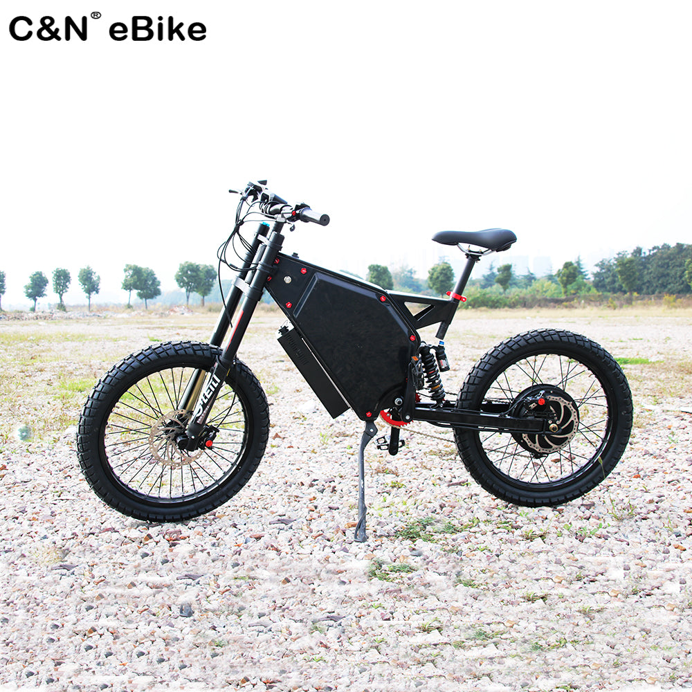 9beea0ab8a4 Load image into Gallery viewer, The King of mileage 72v5000w Stealth bomber  electric bike enduro ...