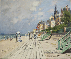 Monet: Beach At Trouville Print