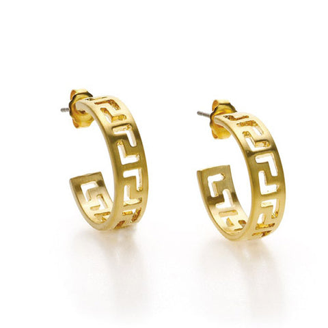 Meander Link Earrings