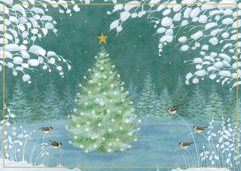 Tree and Winter Scene Boxed Christmas Cards