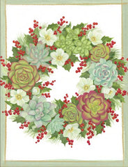 Succulent Wreath Boxed Christmas Cards