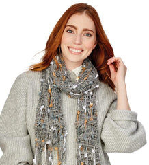 Decorative Yarn Scarf Asst 3 Colors
