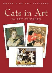 CATS IN ART: 16 ART STICKERS