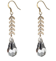 Faceted Crystal Drop Earring