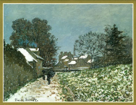 Snow at Argenteuil by Claude Monet Boxed Christmas Cards