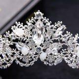 Wedding Bridal Bridesmaid Flower Girls Zircon Crystal Tiaras Crowns Hairwear for Women Wedding Bridal Hair Jewelry Accessories