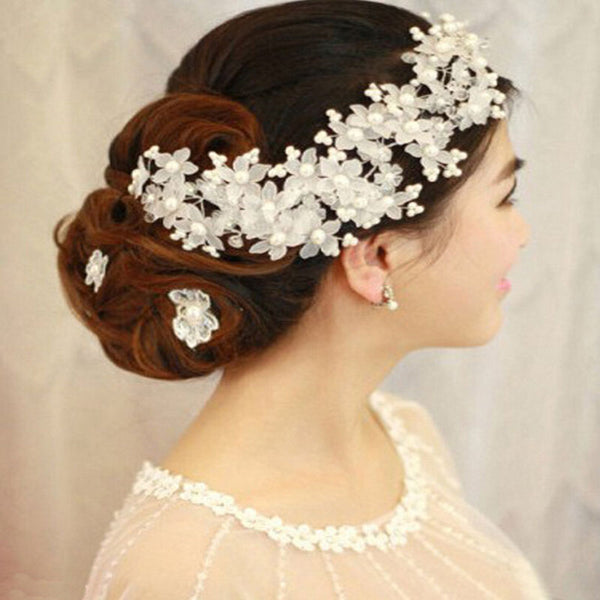 Pearl Bridal Hair Combs Hairpin Tiara Wedding Hair Accessories