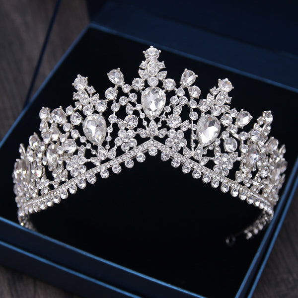 Silvery Inlay Shine Rhinestone Ornaments Tiara