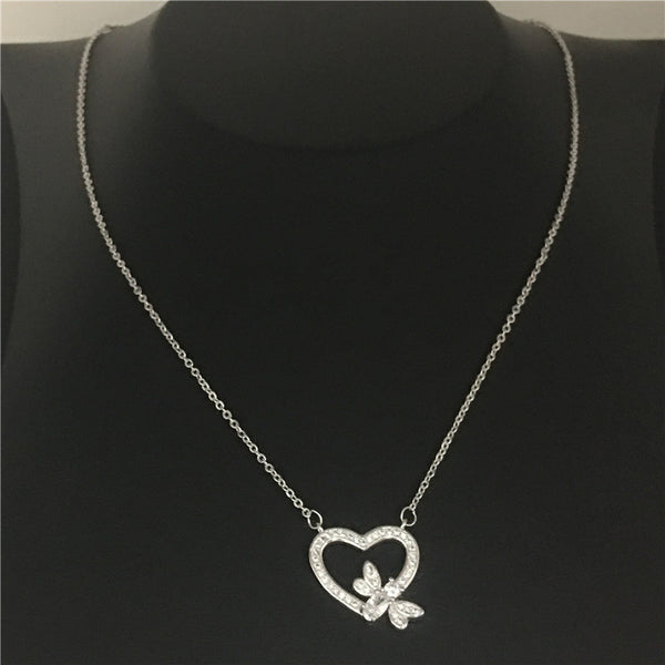 honeybee Heart Pendants Necklace