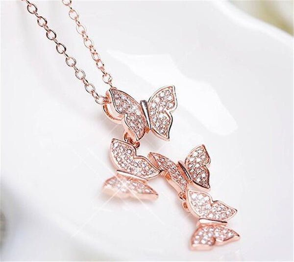 Butterflies Shape Pendant Necklace