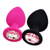 "Random Color Jeweled 3"" Hypoallergenic Silicone Plug"