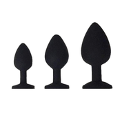 8 Colors Available Black Silicone Anal Plug