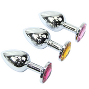 Random Color Jewel Chromed Stainless steel princess plug