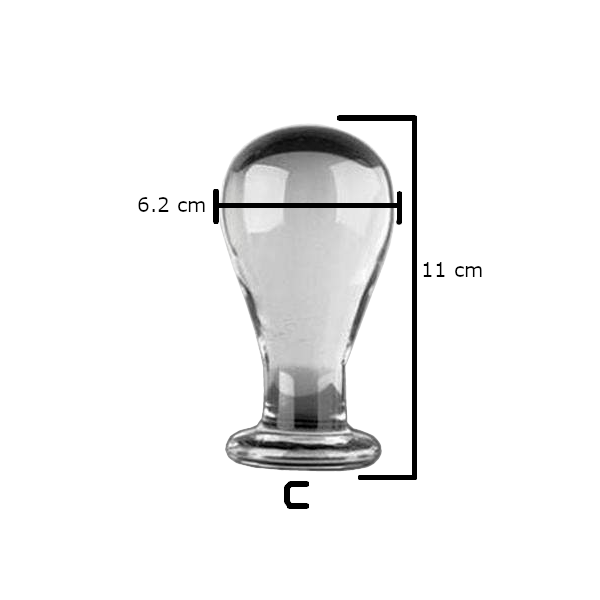 3 Sizes Transparent Glass plug