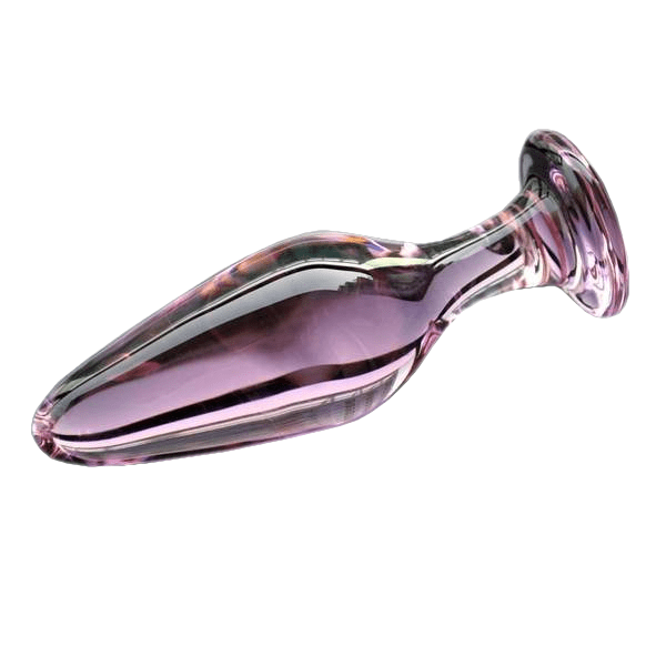 3 styles Pink Glass Crystal Butt Plug
