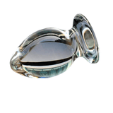 2 sizes Large Transparent Glass Butt Plug