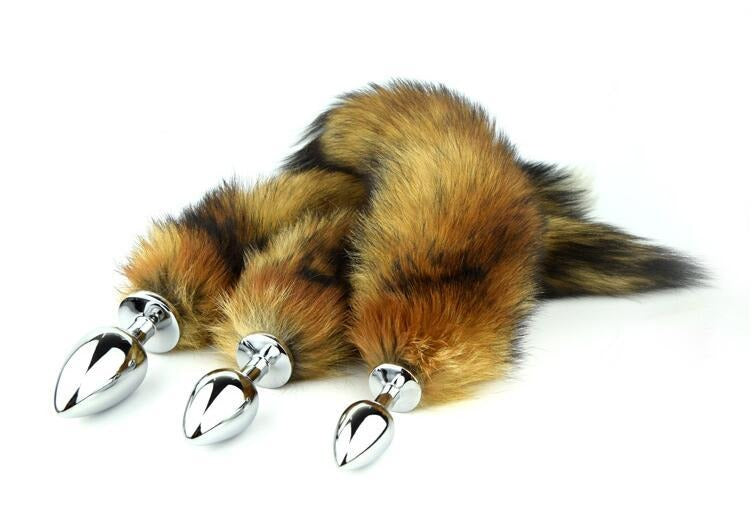 "16"" Tail Brown Fox 3 Stainless steel plug sizes available"