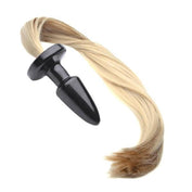 "20"" Tail Blonde Pony Silicone plug"