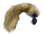 "18"" Tail Brown Fox Tail Silicone plug"