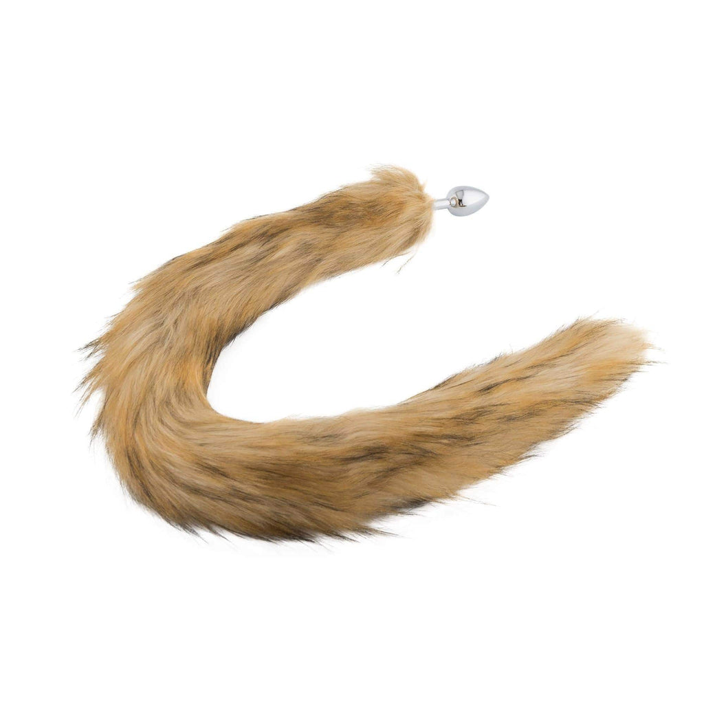 Fox Tail Stainless Steel Plug, Brown 32""