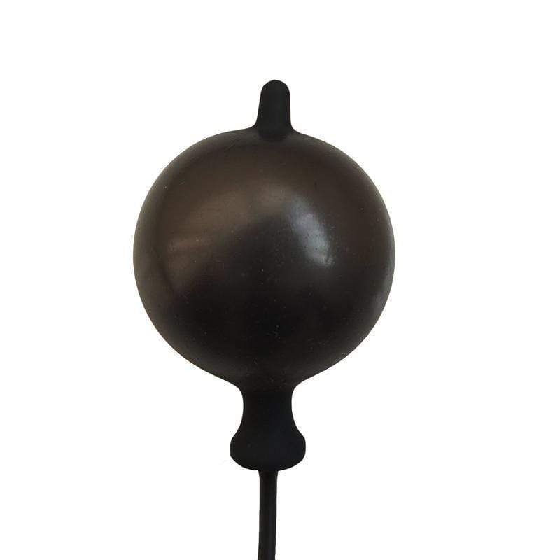"5"" Black Silicone Inflatable Butt Plug"