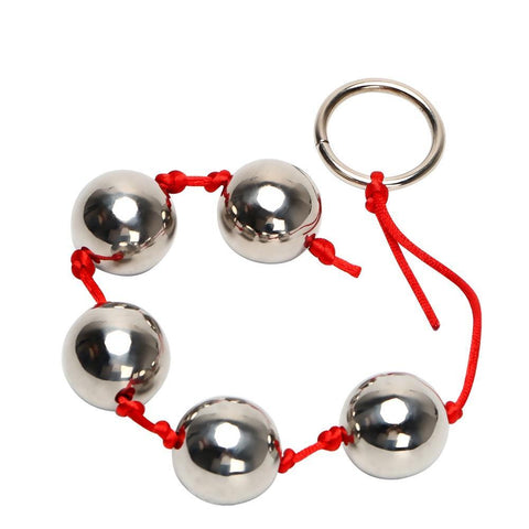2 colors string Stainless Steel Anal Beads with Pull Ring