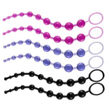 "3 Colors 12"" Silicone Anal Beads with Pull Ring Ball"