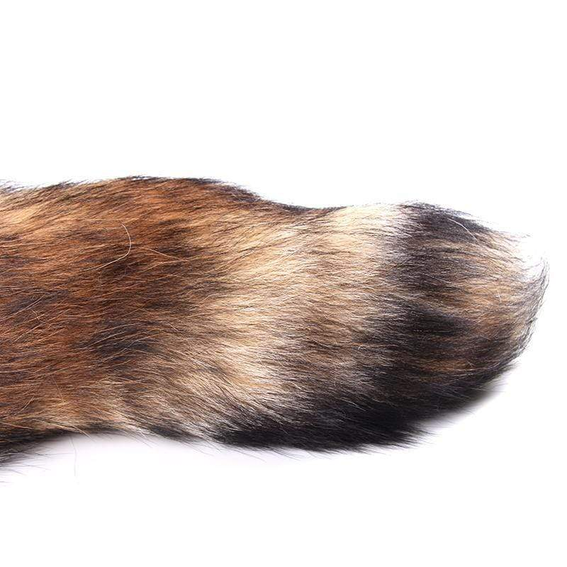 Brown Fox Tail Metal, 3 Sizes