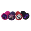 "Random Color Jeweled 3"" Silicone Princess Plug"