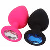 2 Colors Jeweled Silicone Plug