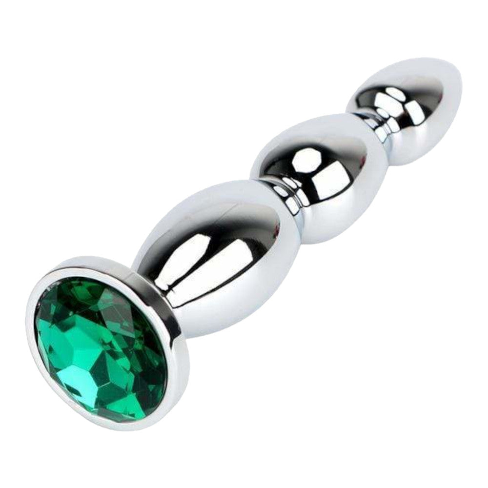 "4 Colors Jeweled 5"" Stainless Steel Princess Plug"